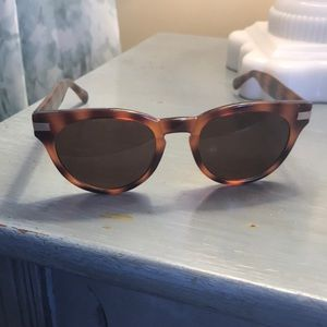 Cole Haan honey tortoise wayfarer round sunglasses